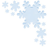 Blue snowflakes. On white with copy space royalty free illustration