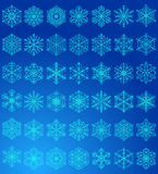 Blue snowflakes Royalty Free Stock Images