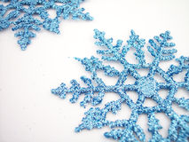 Blue Snowflakes 2 Stock Images
