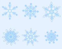 Blue snowflakes Stock Photos
