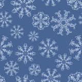 Blue snowflakes. Seamless  pattern with decorative snowflakes Stock Images
