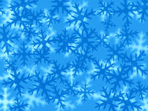 Blue snowflakes Stock Image