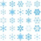 Blue snowflakes Royalty Free Stock Image