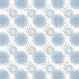 Blue Snowflakes Abstract Stock Photography