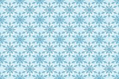 Blue snowflakes pattern. Blue snowflakes as winter holidays decoration design for wrapping gift wallpaper or cover vector seamless pattern. Merry christmas and royalty free illustration