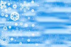 Blue snowflakes background Stock Photos