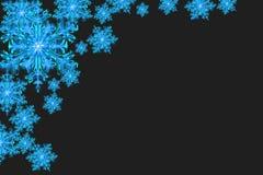 Blue snowflakes background Royalty Free Stock Photos