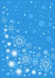 Blue snowflakes background stock illustration