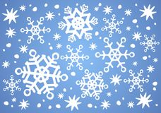 Blue snowflakes background Royalty Free Stock Photos