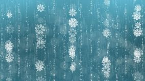 Blue Snowflakes Background. stock video