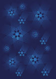Blue Snowflakes background Royalty Free Stock Image