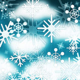 Blue Snowflakes Background Means Frozen Sky And Winter Royalty Free Stock Photo