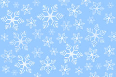 Blue snowflakes background (vector). Blue background with snowflakes - vector illustration Stock Photos
