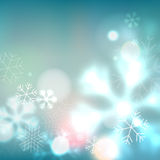 Blue snowflakes background Stock Photography