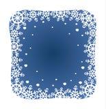 Blue snowflakes border Stock Image