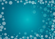Blue snowflakes curls Royalty Free Stock Image