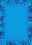 Blue Snowflakes decorative Background. Stock Image