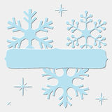 Blue Snowflakes frame Stock Photos