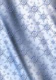 Blue snowflakes on a gray blue wavy gradient background Royalty Free Stock Photo