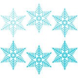 Blue snowflakes. The isolated objects vector illustration