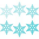 Blue snowflakes. Stock Photos