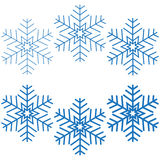 Blue snowflakes. Stock Photography
