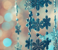 Blue snowflakes Stock Images