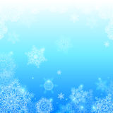 Blue snowflakes light winter vector background Stock Image