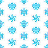 Blue Snowflakes Pattern. Glossy 3d Modern Blue Snowflakes Pattern royalty free illustration