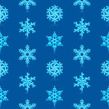 Blue Snowflakes Pattern. Glossy 3d Modern Blue Snowflakes Pattern stock illustration