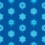 Blue Snowflakes Pattern Royalty Free Stock Images