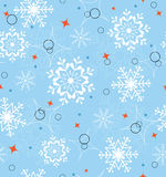 Blue snowflakes seamless Royalty Free Stock Image