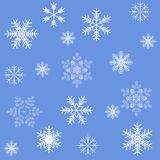 Blue snowflakes seamless background pattern Royalty Free Stock Images