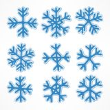 Blue snowflakes Stock Photography