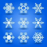 Blue snowflakes. Royalty Free Stock Image