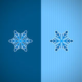 Blue snowflakes. Blue snowflakes and shadow on blue background Stock Photo