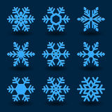 Blue snowflakes. Stock Image