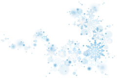Blue snowflakes swirl Royalty Free Stock Photography