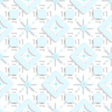 Blue snowflakes on top perforated rectangles seamless Royalty Free Stock Images