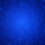 Blue snowflakes. Vector blue background with snowflakes royalty free illustration