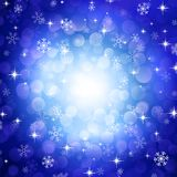 Blue snowflakes. Vector blue background with snowflakes Royalty Free Stock Photography