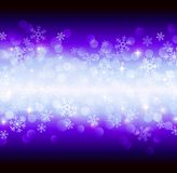 Blue snowflakes. Vector blue background with snowflakes Stock Photos