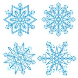 Blue snowflakes. Vector. Blue snowflakes isolated on white background. A vector image Royalty Free Stock Images