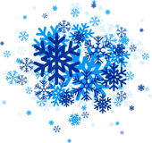 Blue snowflakes. Royalty Free Stock Images