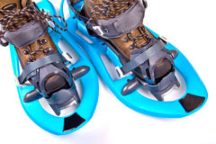Blue Snowshoes Royalty Free Stock Photos