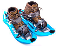 Blue Snowshoes Stock Photos