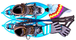 Blue Snowshoes Royalty Free Stock Image