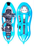 Blue Snowshoes partly isolated Stock Images