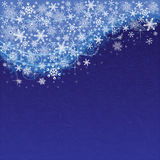 Blue snowy background Royalty Free Stock Photography