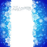 Blue snowy background Royalty Free Stock Image